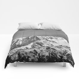 Mountain Glacier Two Comforters