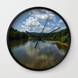 Song of the Delaware River Wall Clock
