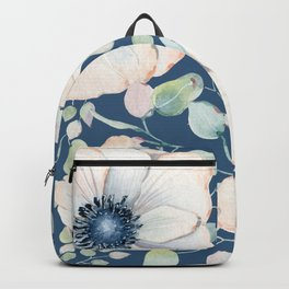 Summer Flowers Blue #society6 #buyart Backpack