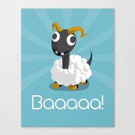 The Dino-zoo: Sheep-saurus Canvas Print