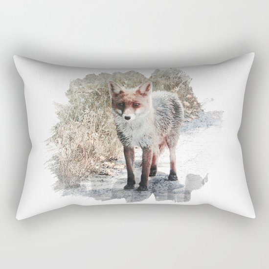 How I met a Fox Rectangular Pillow