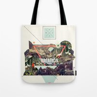 island Tote Bags featuring island Vacation by Dawn Gardner