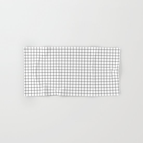 Grid (Black/White) Hand & Bath Towel