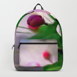 Crabapple flowers and buds. Outburst of life Backpack