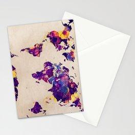 world map 20 Stationery Cards