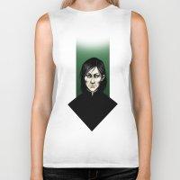 snape Biker Tanks featuring Severus Snape  by Fatma Sahem