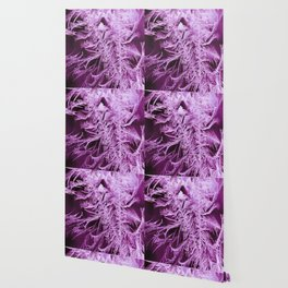 White Ice Crystals On A Purple Background #decor #society6 #homedecor Wallpaper