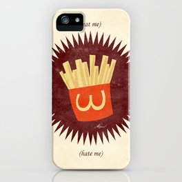 (eat me) CHIPS (hate me) iPhone Case