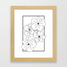 Flower Rectangle Framed Art Print