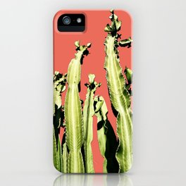 Cactus - red iPhone Case