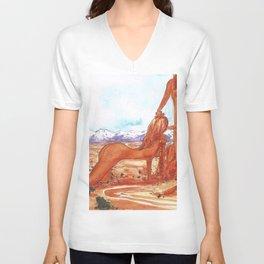 Arches National Park - Erotic Nature Couple Painting Unisex V-Neck