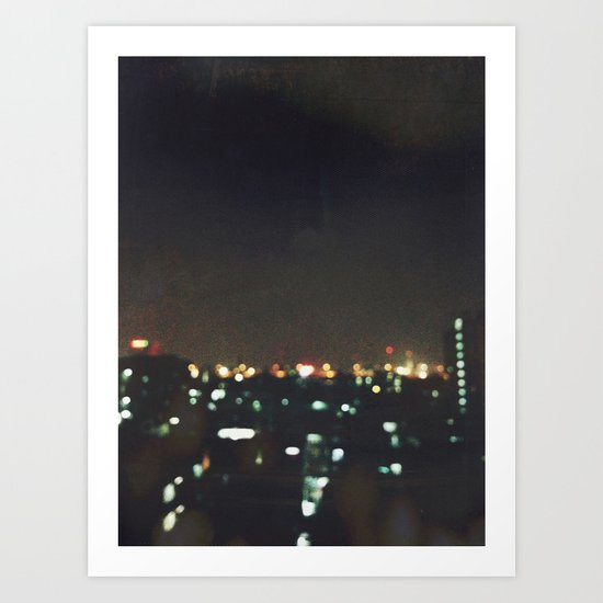 Blurry Night Art Print