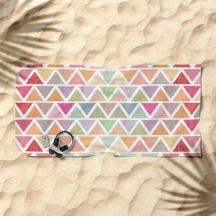 Lovely geometric Pattern III Beach Towel