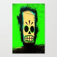 grim fandango Canvas Prints featuring Manny Calavera, Green version (Grim Fandango) by acefecoo