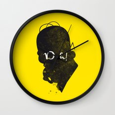 Doh – Homer Simpson Silhouette Quote Wall Clock
