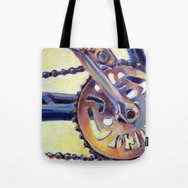 Bicycle Crank Tote Bag