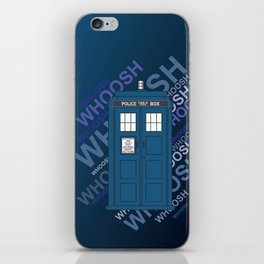 Tardis Whoosh sound Doctor Who iPhone Skin