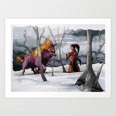 BEAST AND BEAUTIFUL Art Print