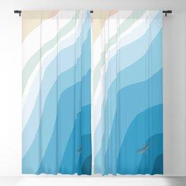 Shark Beach  Blackout Curtain