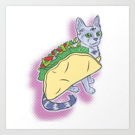 Taco Cat! Art Print