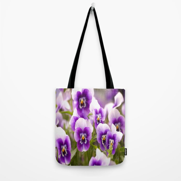 Wonderful Pansies Purple Flowers #decor #society6 Tote Bag