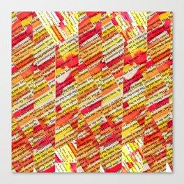 Orange Geometric Canvas Print