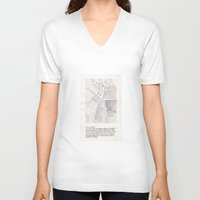 lee pace V-neck T-shirts featuring Santa Maria della Pace by Patrick Bourgeois