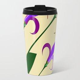 A Bouquet of Mediterranean Purple and Lavender Flowers Travel Mug