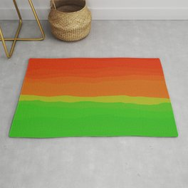 Candy Watermelon Abstract Rug