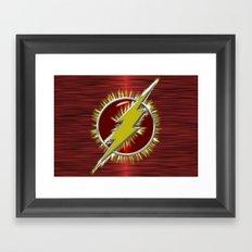 Electrified Flash Framed Art Print