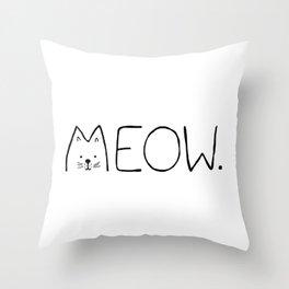 meow. Throw Pillow