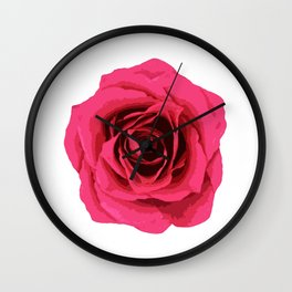 Pink Rose Wall Clock