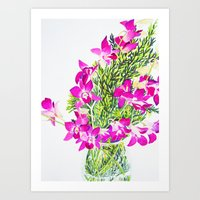 singapore Art Prints featuring Singapore Orchids by marlene holdsworth