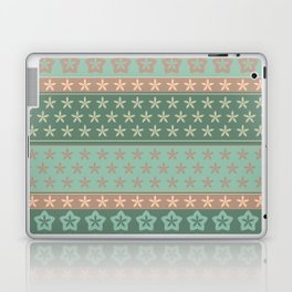 Flowers on stripes shabby chic pattern Laptop & iPad Skin