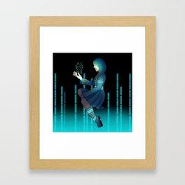 Techno witch Framed Art Print