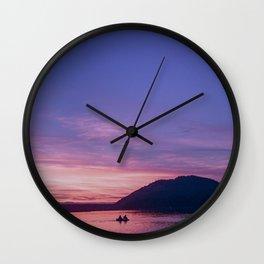 Van Isle Sunset Series Wall Clock