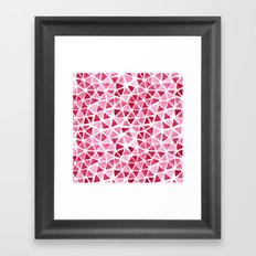 Imperfect Geometry: Pink Triangles Framed Art Print