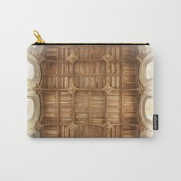 Wooden church ceiling  Carry-All Pouch