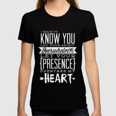 Know You Womens Fitted Tee Black LARGE