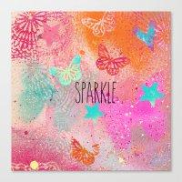 sparkle Canvas Prints featuring Sparkle by SannArt