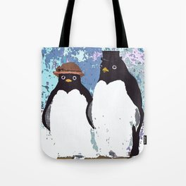 Together We Weather Penguin Art Tote Bag