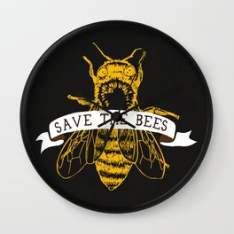 Save The Bees (Dark) Wall Clock