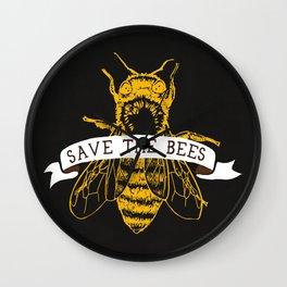 Save The Bees (Dark) Wall Clock