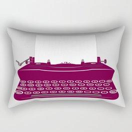 The Lonely Typewriter {dark plum} Rectangular Pillow