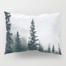 Evergreens in the fog Pillow Sham
