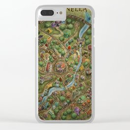 Astranella Map Clear iPhone Case