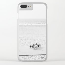 Puppy Traffic, French Bulldogs, Frenchie Art, French Bulldog Gifts Clear iPhone Case
