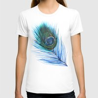 peacock feather T-shirts featuring Peacock Feather I by Mai Autumn