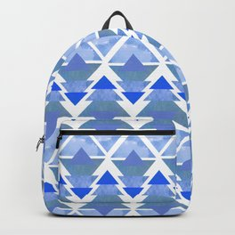 Winter Blue Geometric Forest Backpack