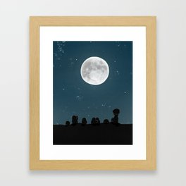 Watching the Moon, (The Unexpected Adventures: Moon Day) Framed Art Print